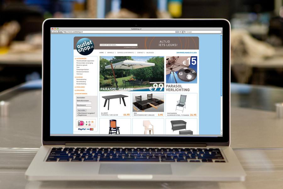 Vormgeving Outletshop webshop