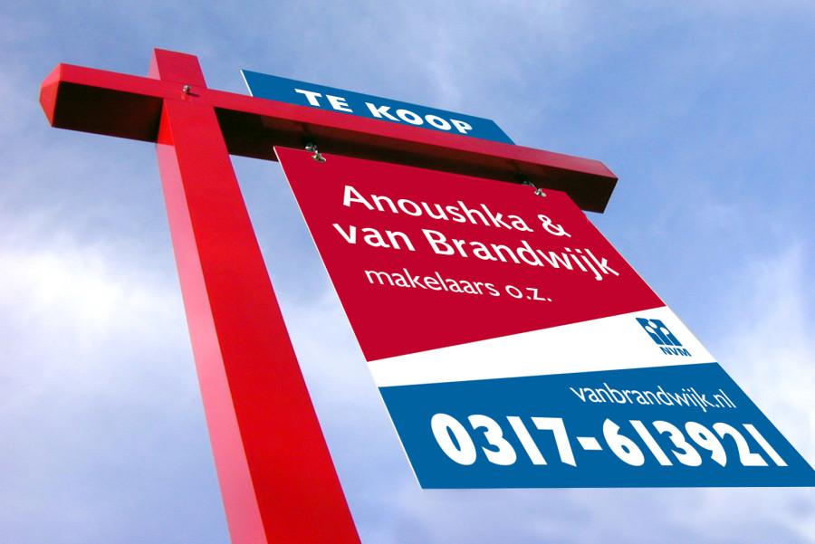 van Brandwijk makelaars tuinbord